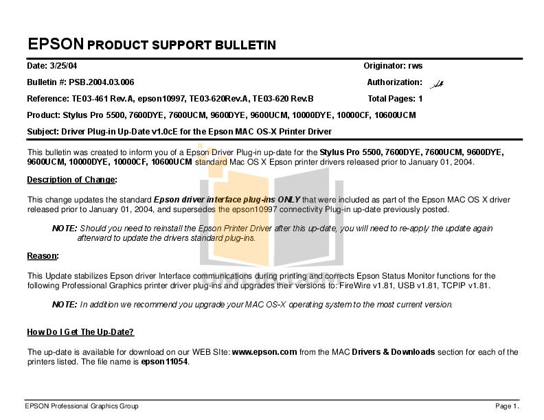pdf for Epson Printer Stylus Pro 5500 manual