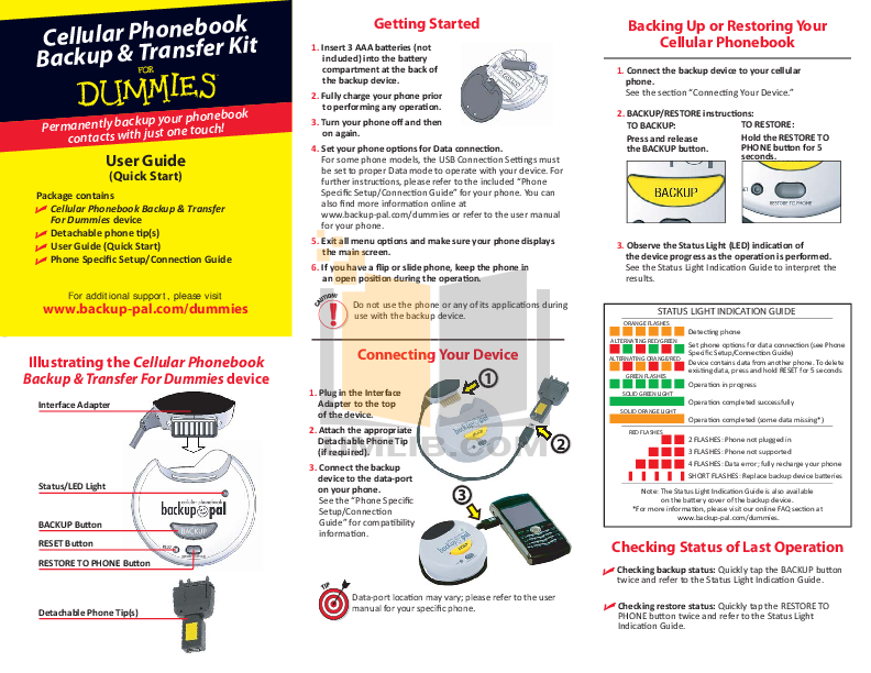 pdf for Blackberry Cell Phone 7105t manual