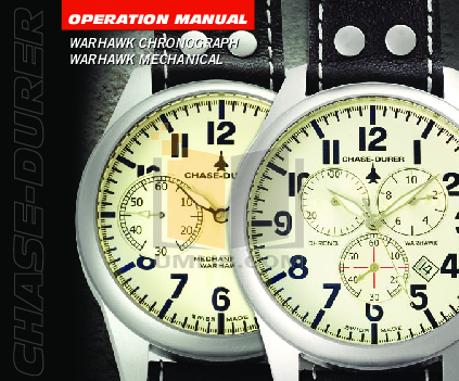 pdf for Chase-durer Watch Warhawk Mechanical manual