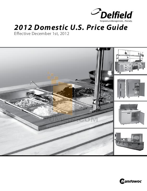 pdf for Delfield Refrigerator SAR2-SLG manual