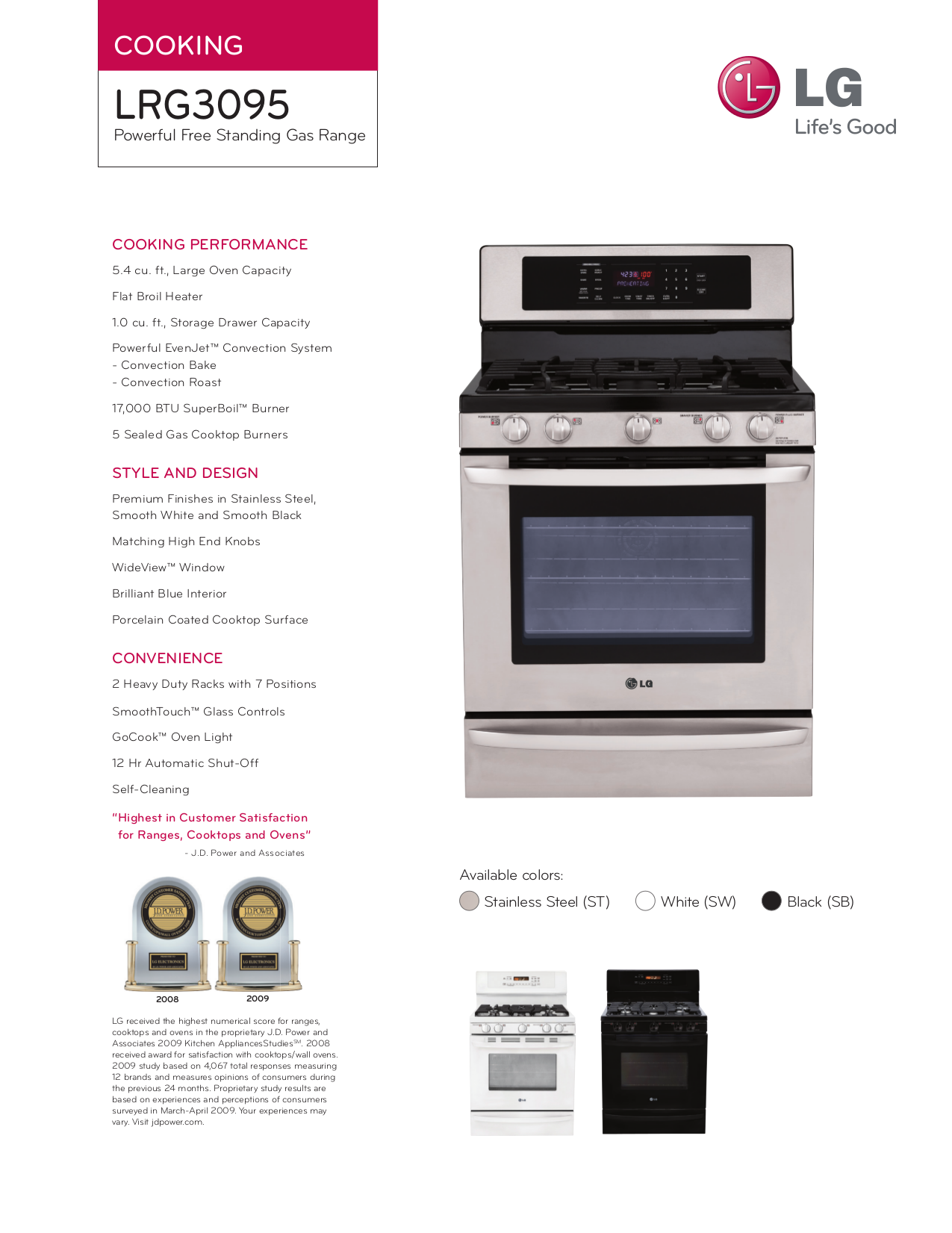 download free pdf for lg lrg3095s range manual rh umlib com lg electric range manual lg electric range service manual