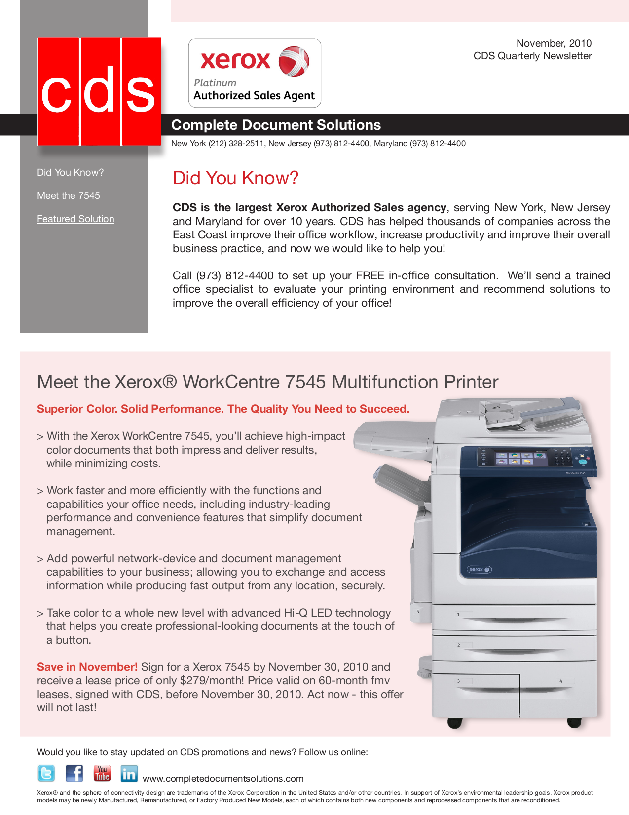Download free pdf for Xerox WorkCentre 7545 Multifunction