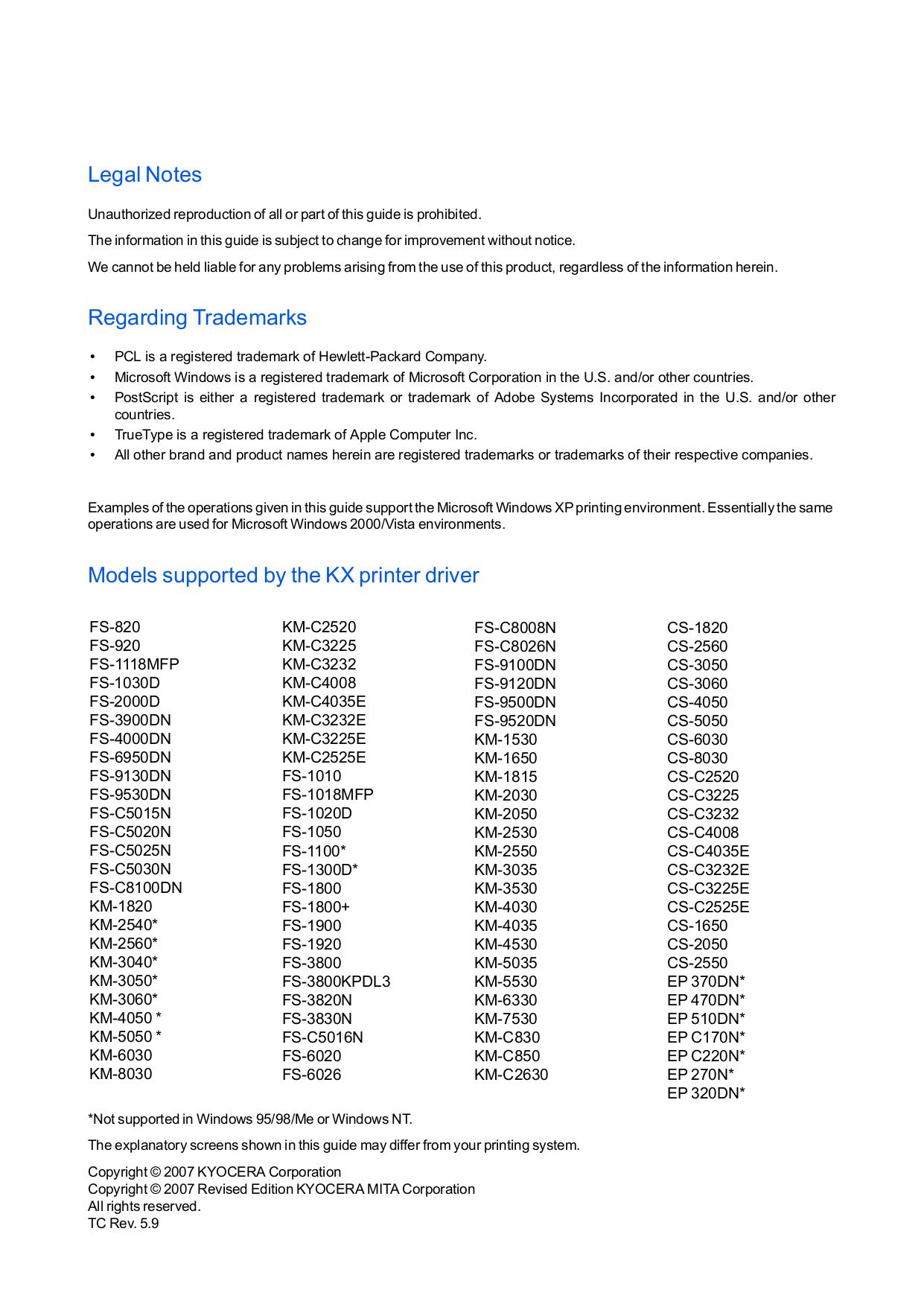 PDF manual for Kyocera Multifunction Printer KM-C3232