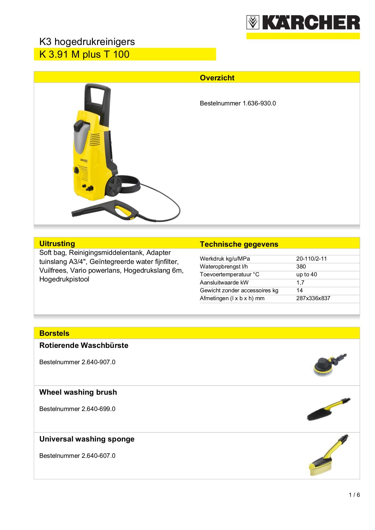 Download Free Pdf For Karcher K 3 91 M Pressure Washers