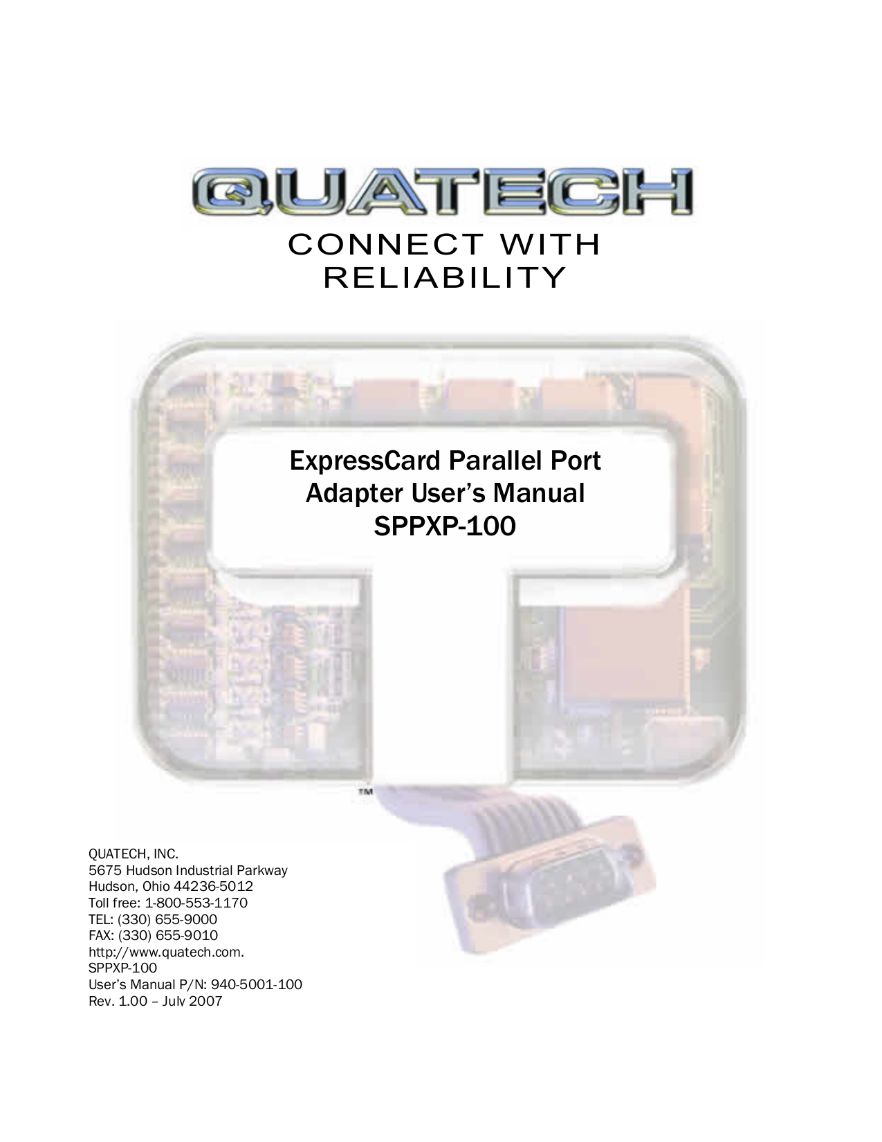 pdf for Quatech Other SPPXP-100 PCI Express Devices manual