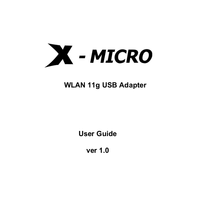 X-Micro Other XWL-11GUAR Adapters pdf page preview