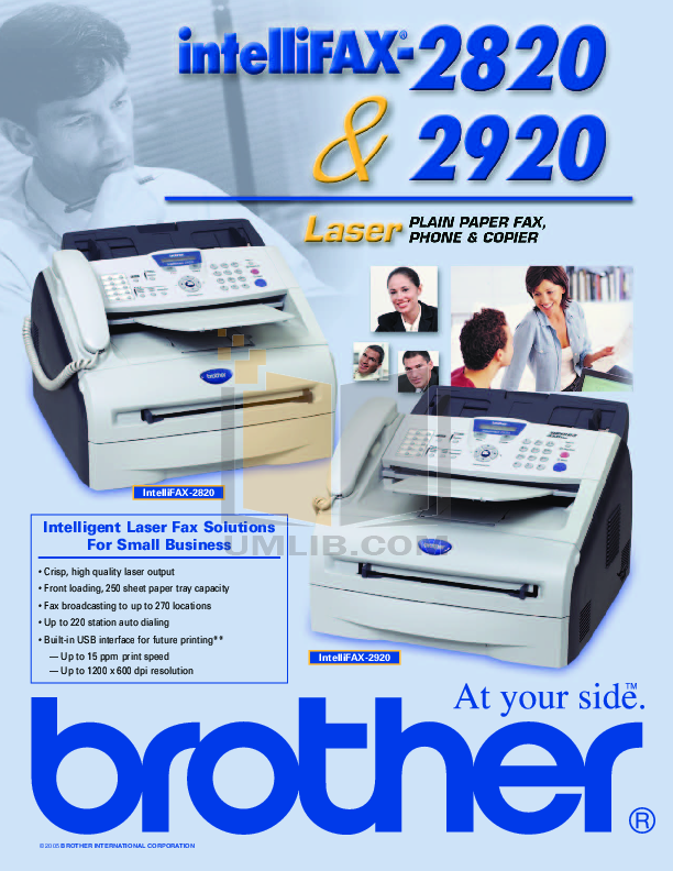 pdf for Brother Fax Machine IntelliFAX 1500M manual