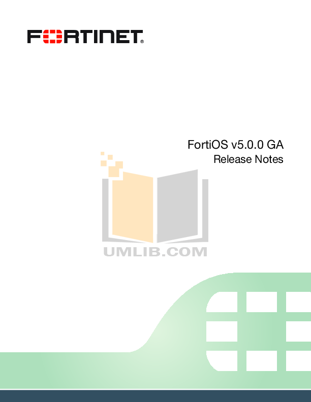 pdf for Fortinet Router FortiGate FortiGate-500A manual
