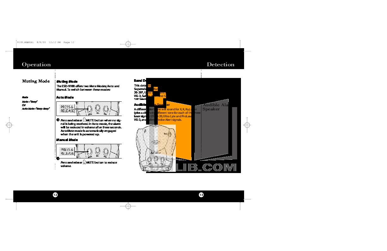 pdf manual for cobra radar detector esd9110, Wiring diagram