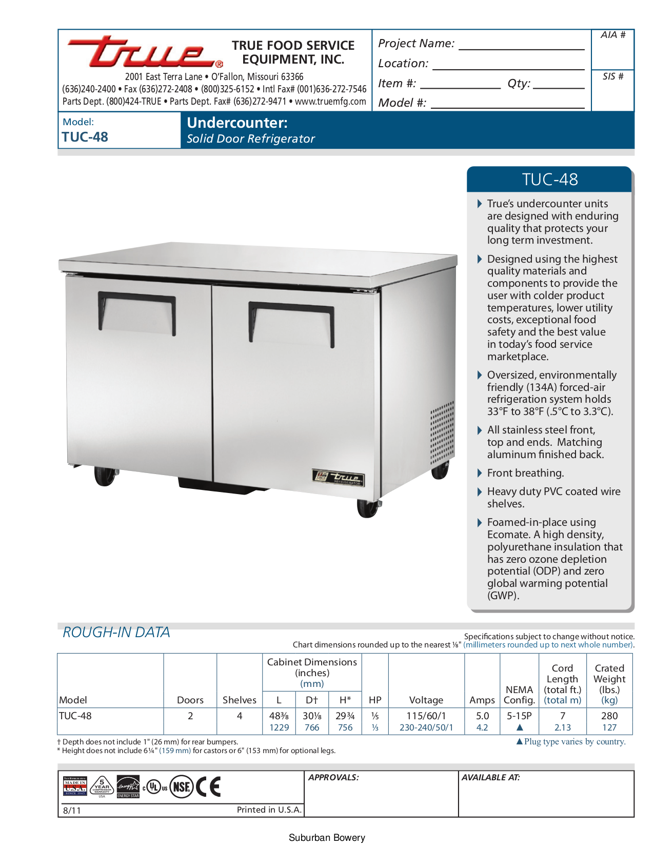 Download Free Pdf For True Tuc 48 Refrigerator Manual