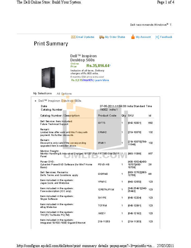 Pdf manual for dell desktop inspiron 560.