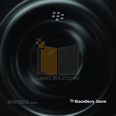 blackberry storm 9530 manual user guide | PDF Owner ...