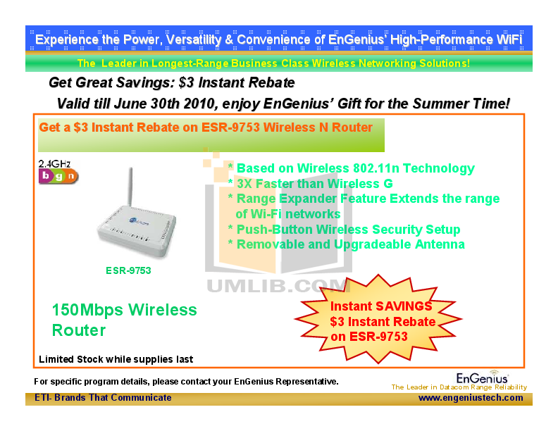 pdf for EnGenius Wireless Router ESR-9753 manual