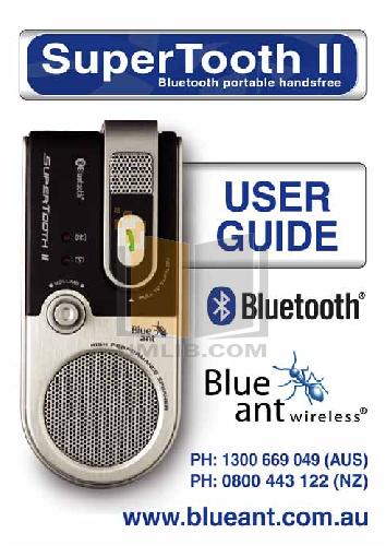 pdf for Blackberry Cell Phone 7100v manual