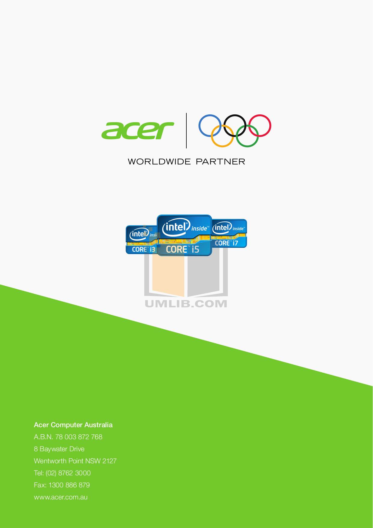 pdf for Acer Desktop Veriton 3000 manual