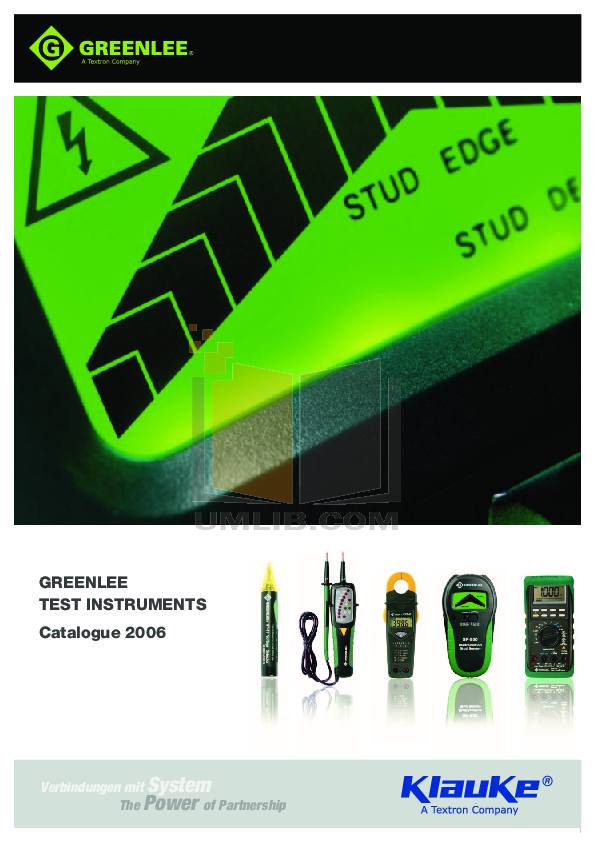 greenlee dm 200 digital multimeter manual
