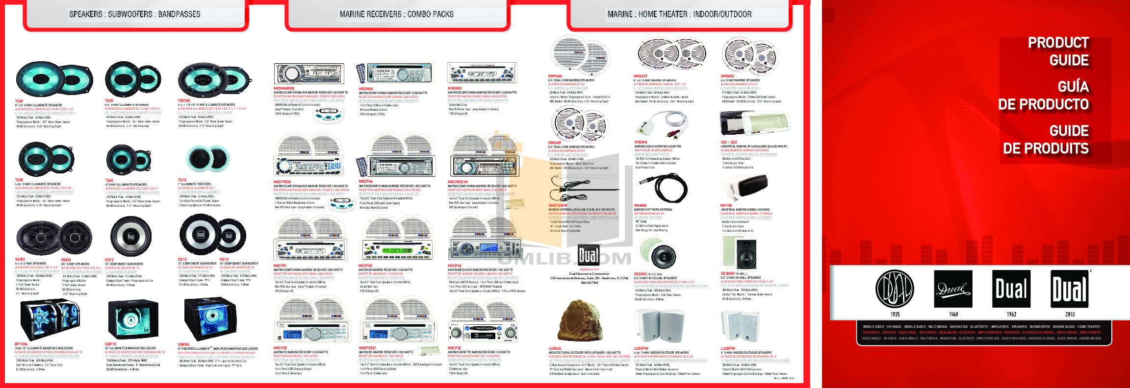 pdf for Dual Speaker DC365W manual