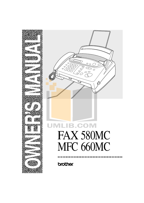 pdf for Brother Fax Machine IntelliFAX 580MC manual