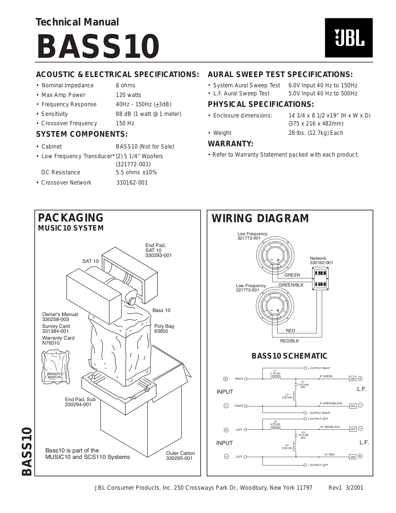 download free pdf for jbl css10 subwoofer manual rh umlib com