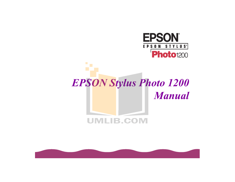 pdf for Epson Printer Stylus Photo 1200 manual