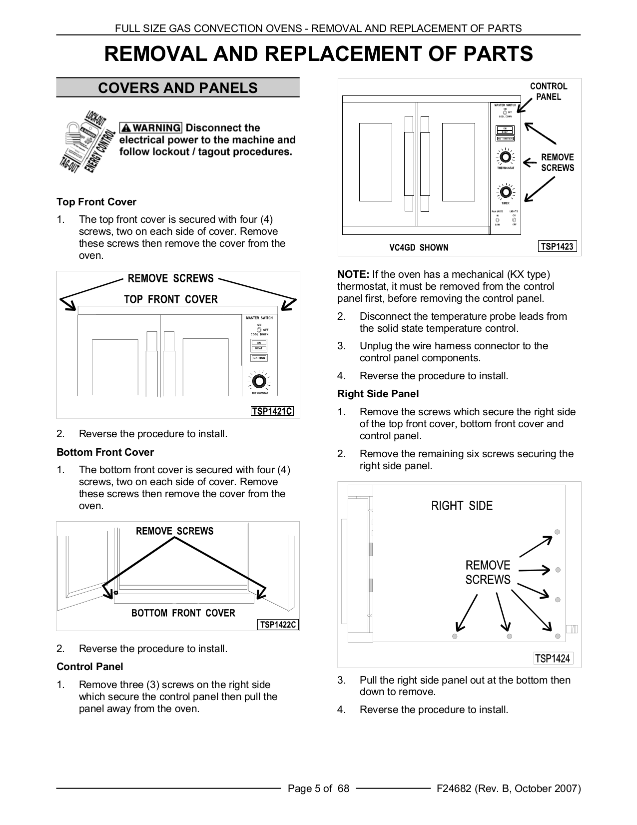 Vulcan Oven VC4GC pdf page preview