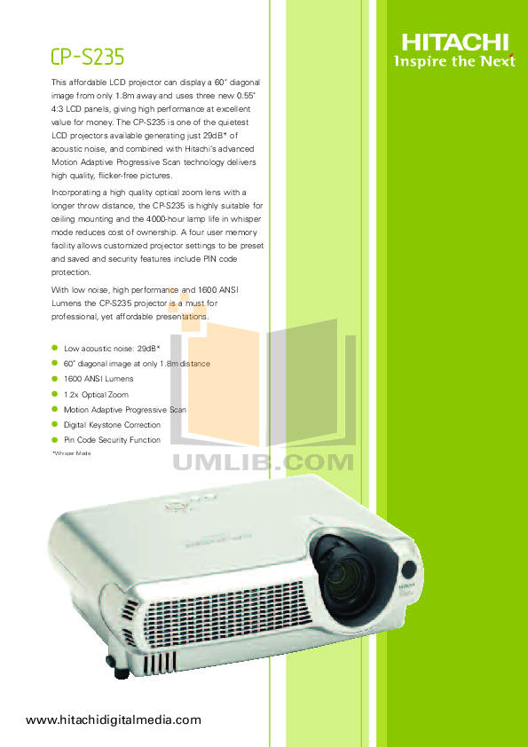 download free pdf for hitachi cp s235 projector manual rh umlib com A36 Steel A36 Steel