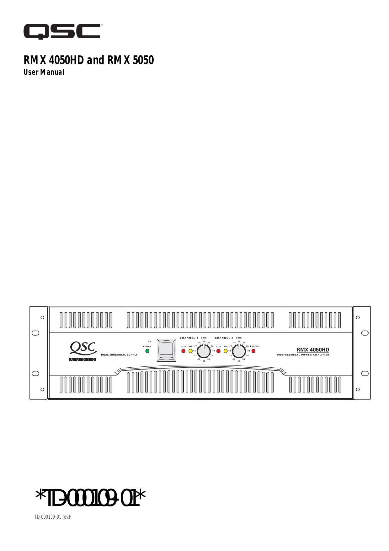 download free pdf for qsc rmx 5050 amp manual rh umlib com QSC Subwoofer QSC K12 Craigslist