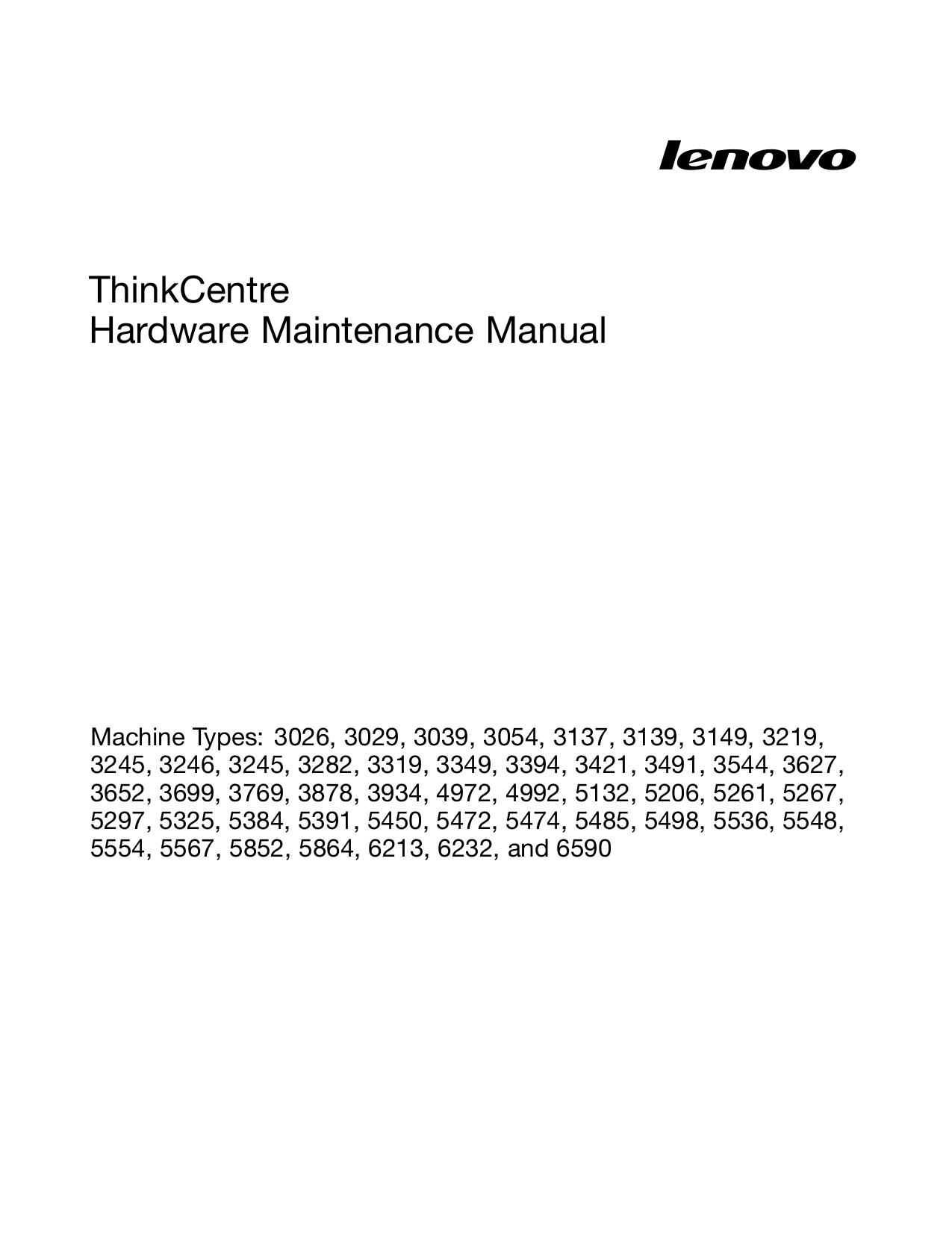 Lenovo Desktop ThinkCentre M90p 5536 pdf page preview