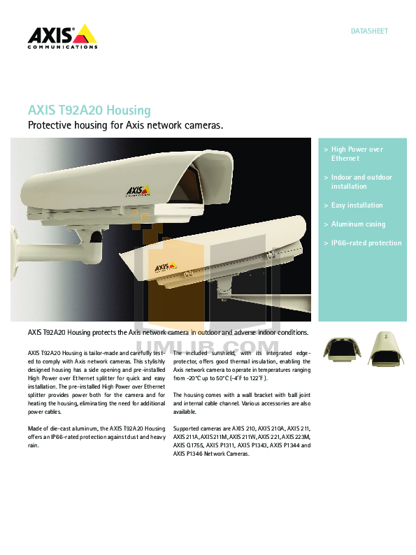 pdf for Axis Security Camera 223M manual