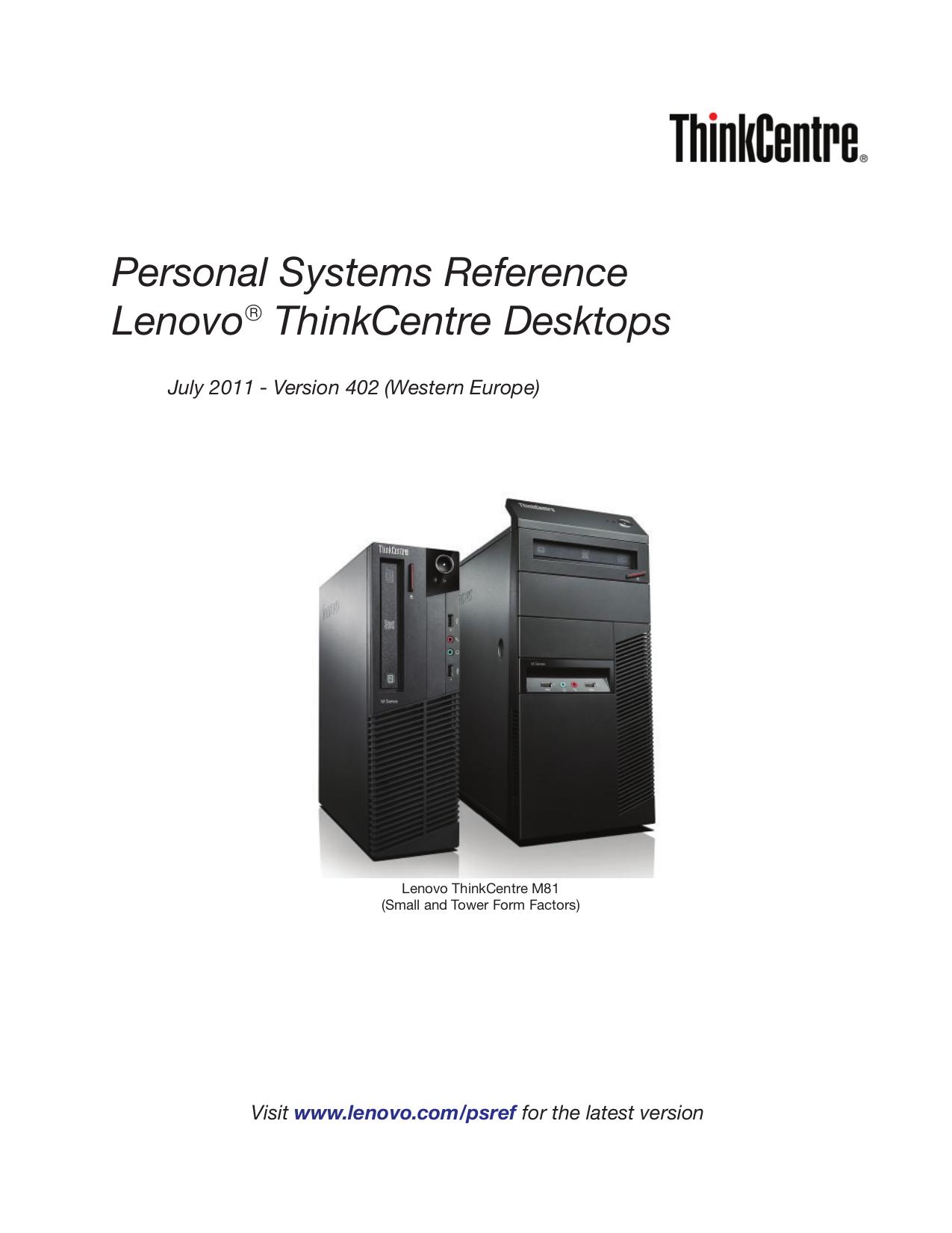 pdf for Lenovo Desktop ThinkCentre M81 5048 manual