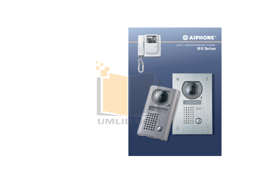 pdf for Aiphone Other RY-3DL Intercoms-Accessory manual