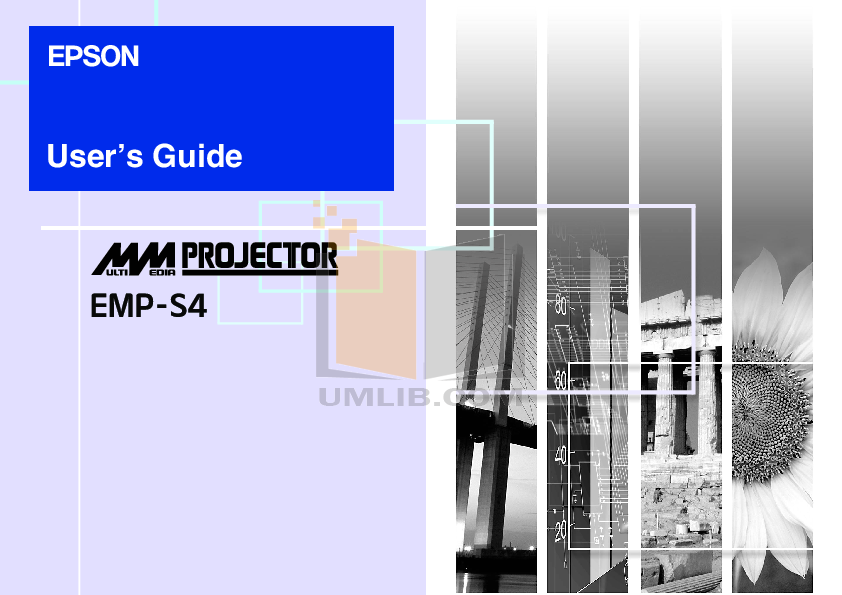 Download free pdf for Epson EMP-S4 Projector manual