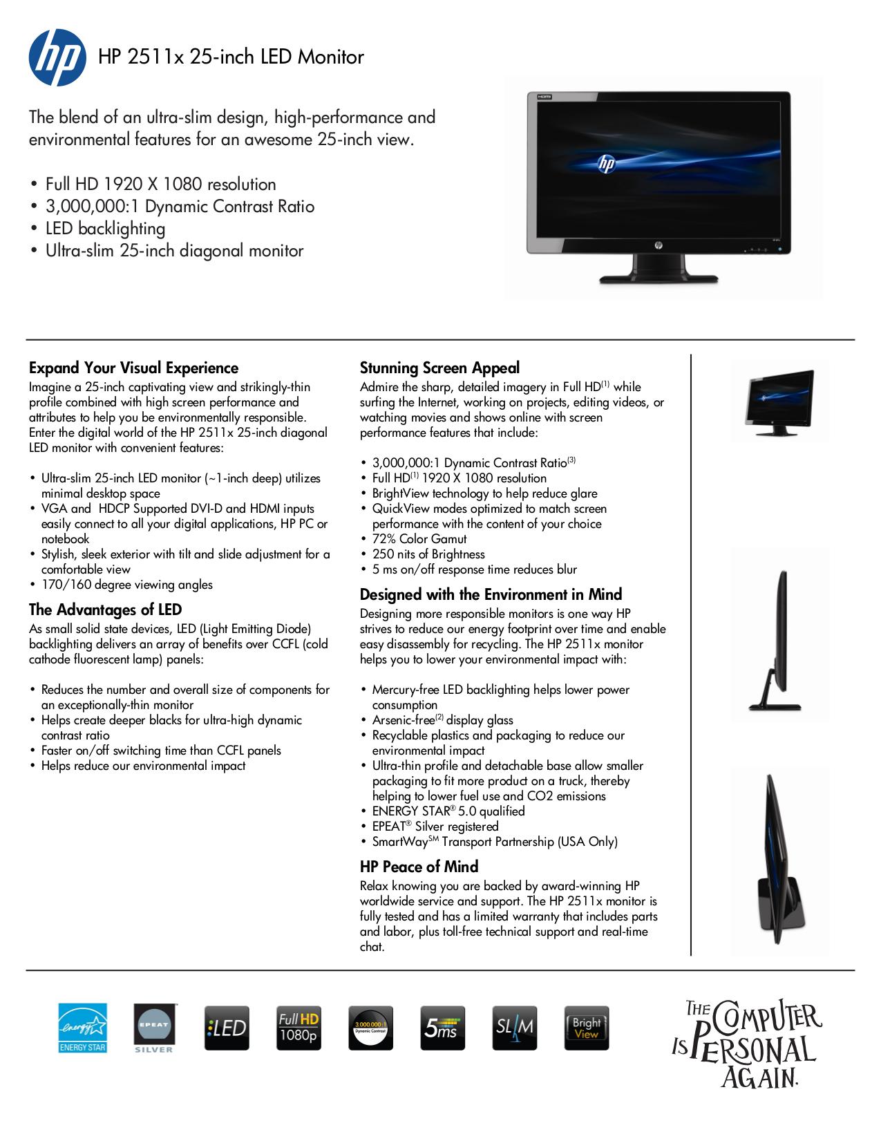 download free pdf for hp 2511x monitor manual rh umlib com LCD Monitor hp 2511x monitor manual