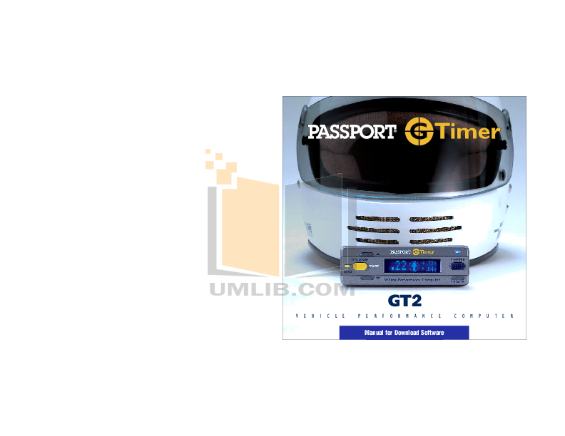 pdf for Escort Radar Detector Passport GT2 manual