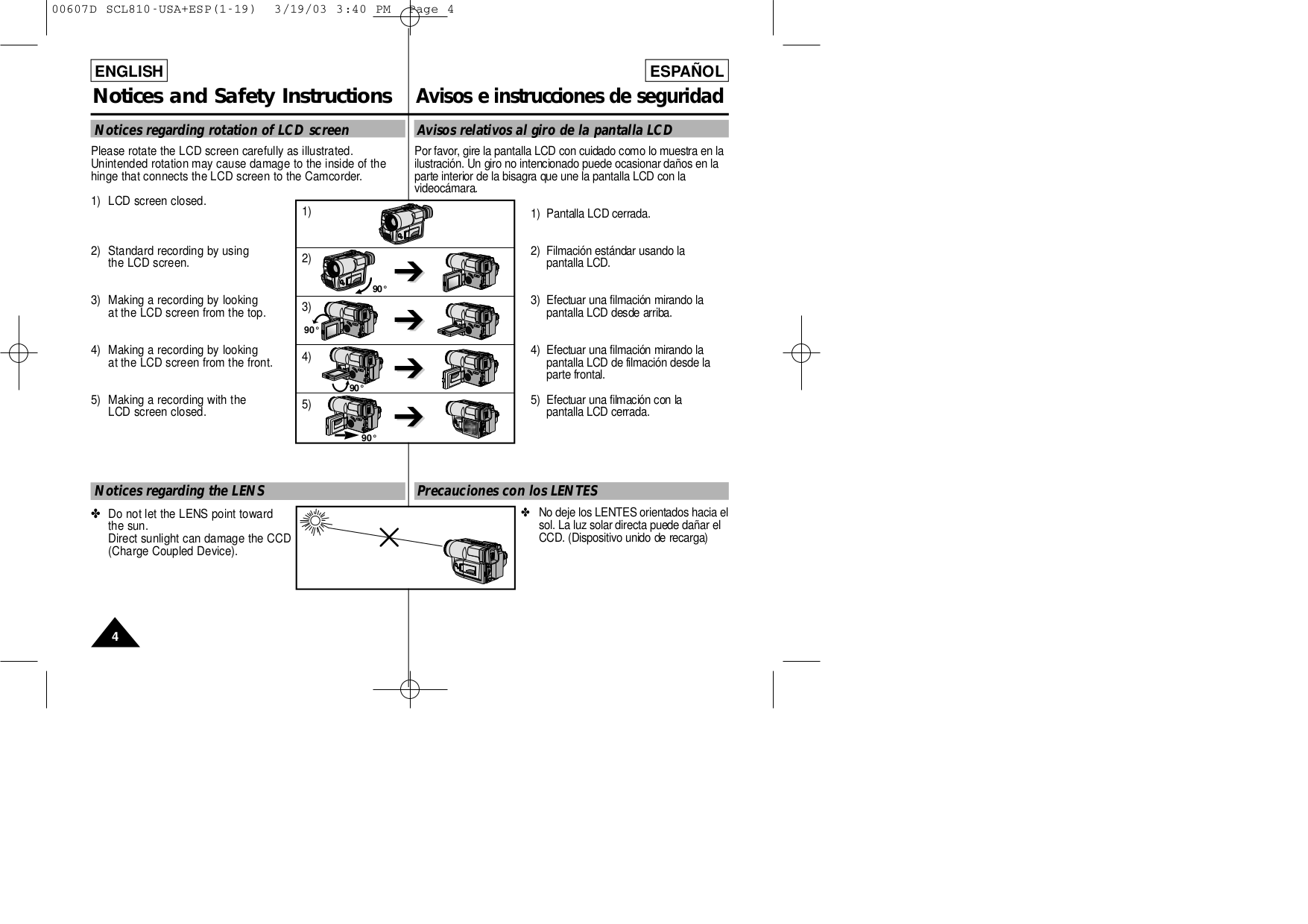 Samsung Camcorders SC-L860 pdf page preview