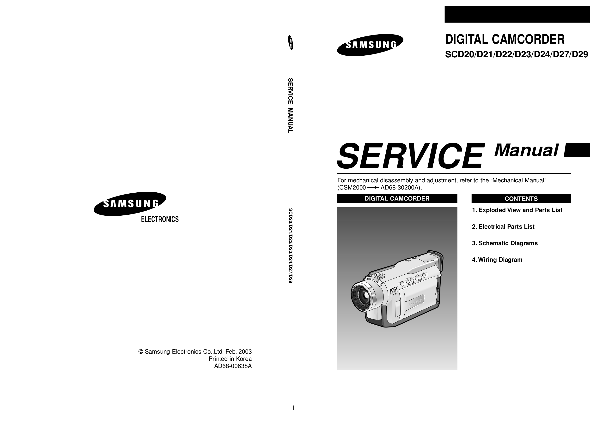 pdf for Samsung Camcorders SC-L860 manual