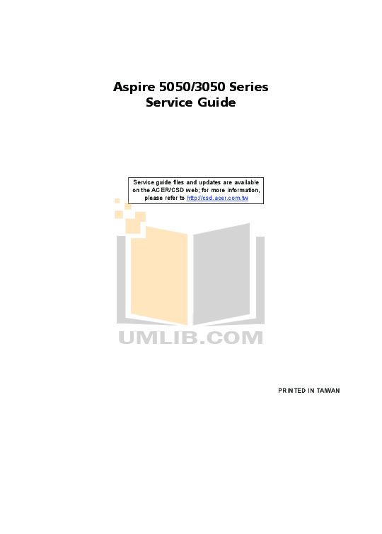 pdf for Acer Desktop Aspire 3200 manual