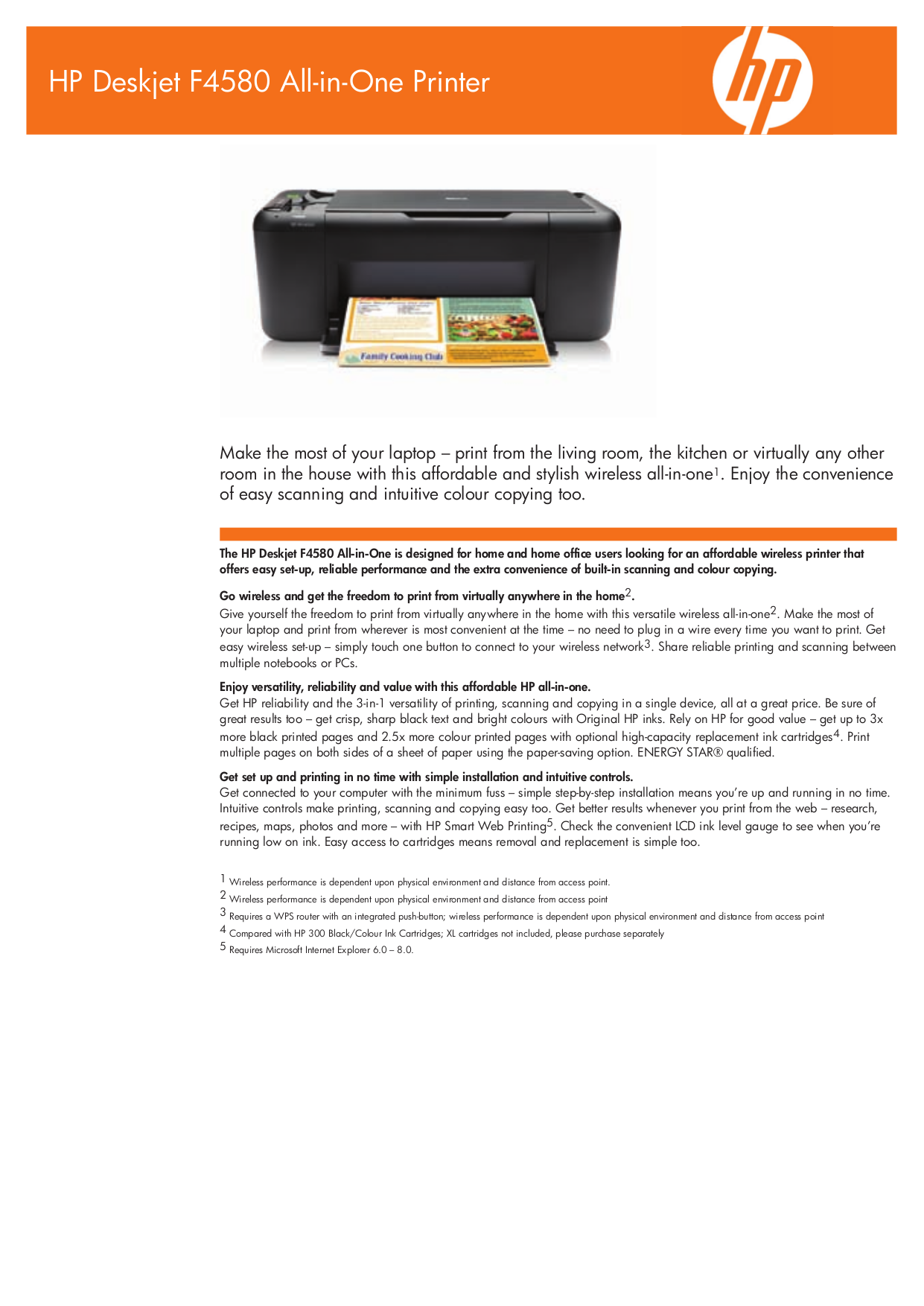 pdf for HP Multifunction Printer Deskjet F4580 manual