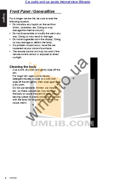 pdf manual for clarion car receiver cz100 rh umlib com CZ 100 9Mm Review CZ 100 9Mm Review