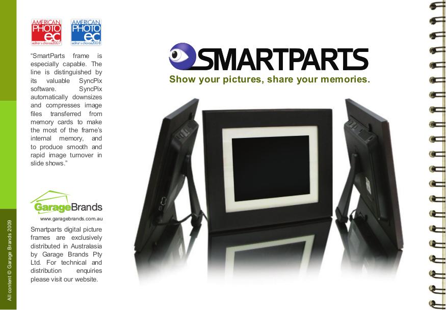 Pdf Manual For Smartparts Digital Photo Frame Optipix Sp72