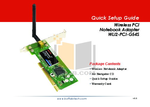 BUFFALO AirStation WLI2-PCI-G54S - network adapter Series Specs & Prices