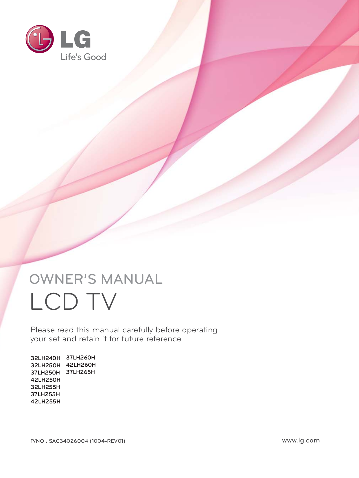 pdf for LG TV 32LH250H manual