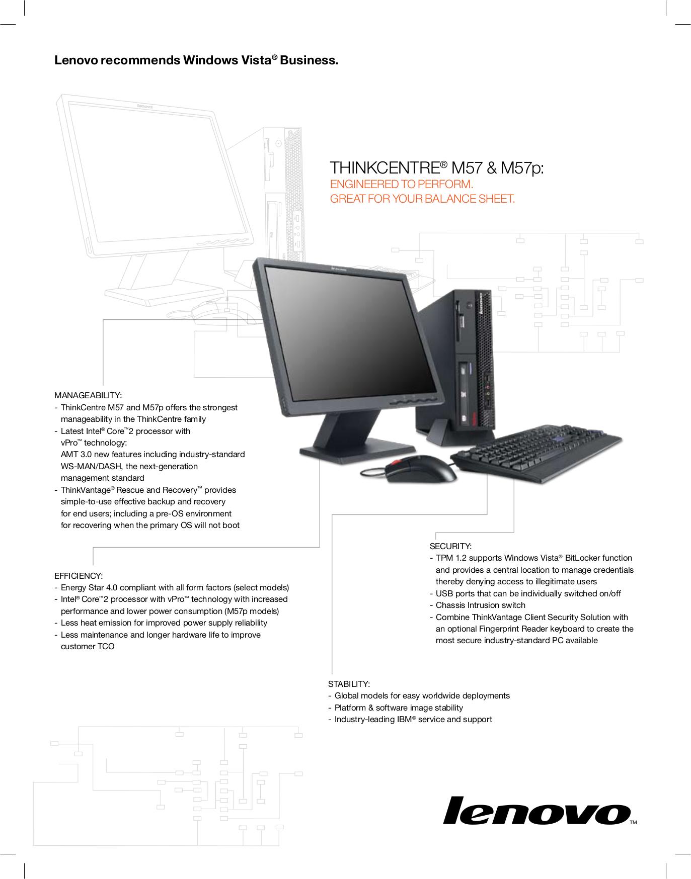 pdf for Lenovo Desktop ThinkCentre M57 6076 manual