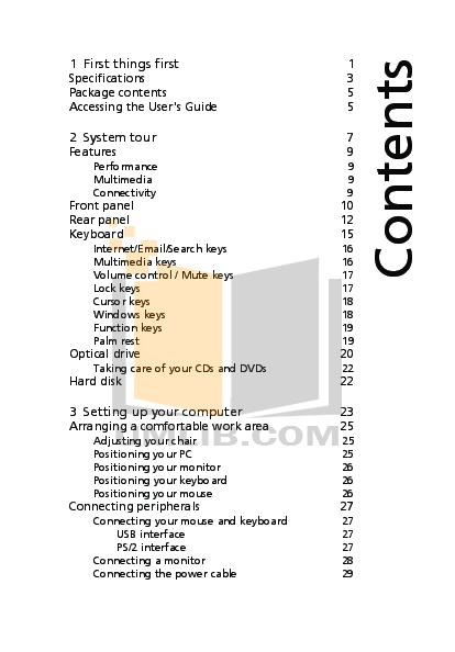Acer Desktop Veriton 6800 pdf page preview