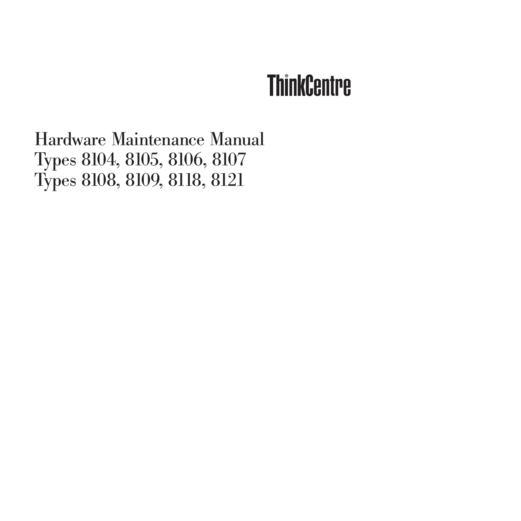 pdf for Lenovo Desktop ThinkCentre M51 8118 manual
