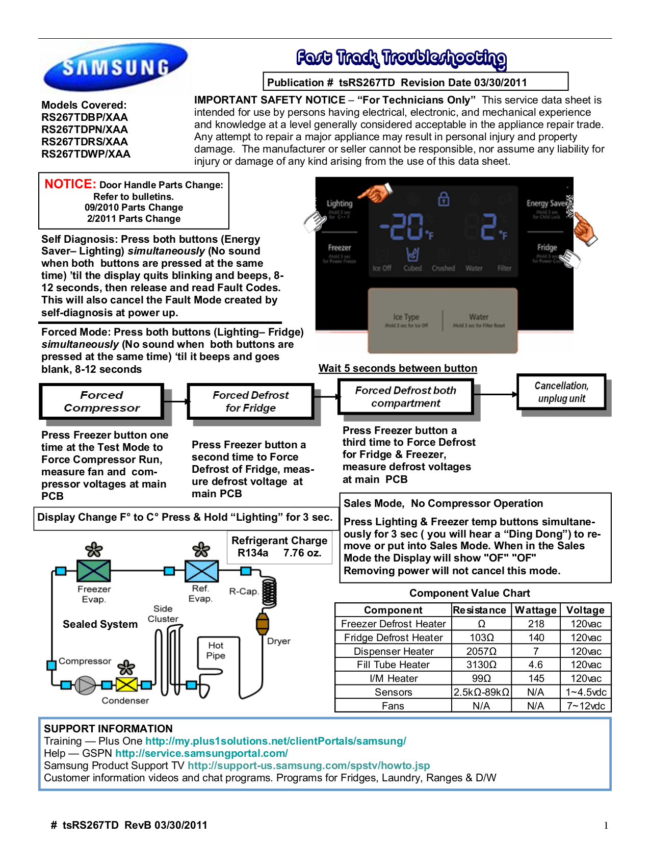 pdf for Samsung Refrigerator RS267TD manual