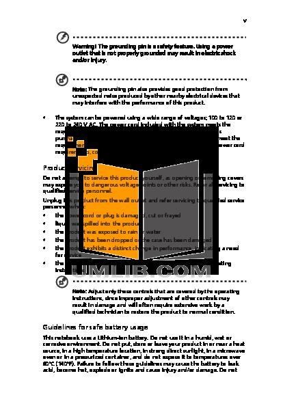 Acer Desktop Aspire ELD pdf page preview