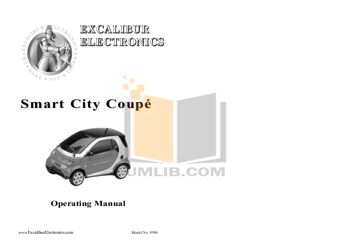 pdf for Excalibur Other 9390 Remote Controlled Car manual
