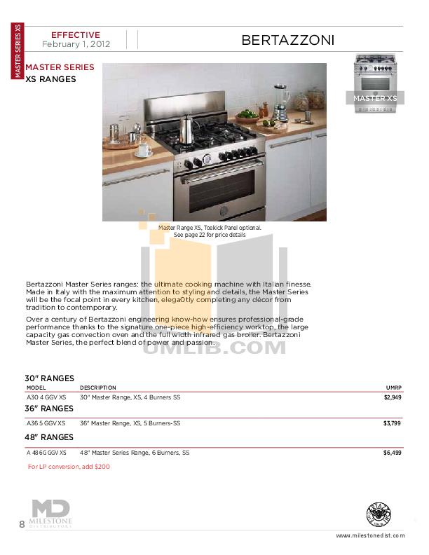 Bertazzoni Oven FD30CON pdf page preview