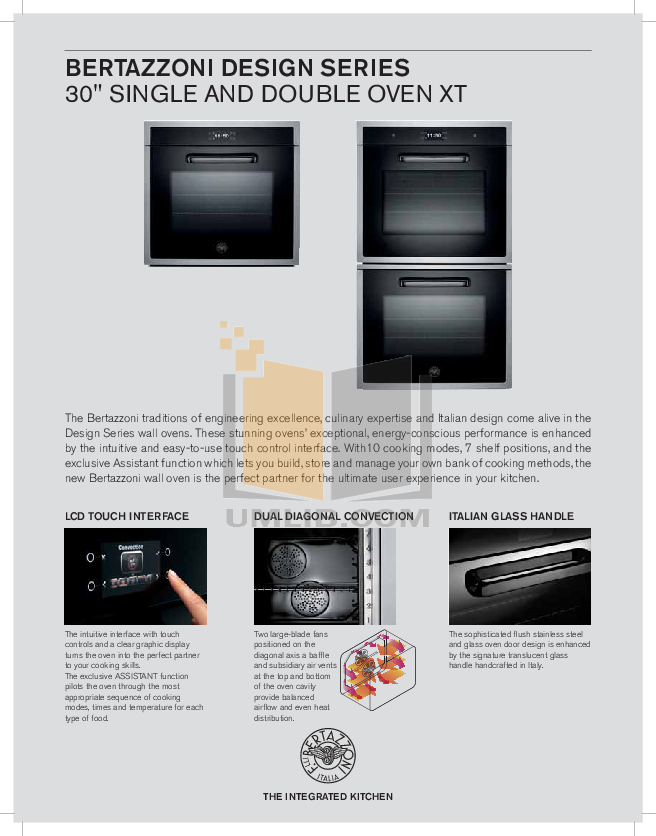 pdf for Bertazzoni Oven FD30CON manual